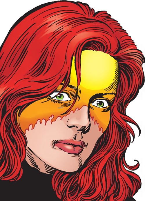 Firestar (Marvel Comics) (Avengers ; New Warriors) face closeup Pérez Avengers