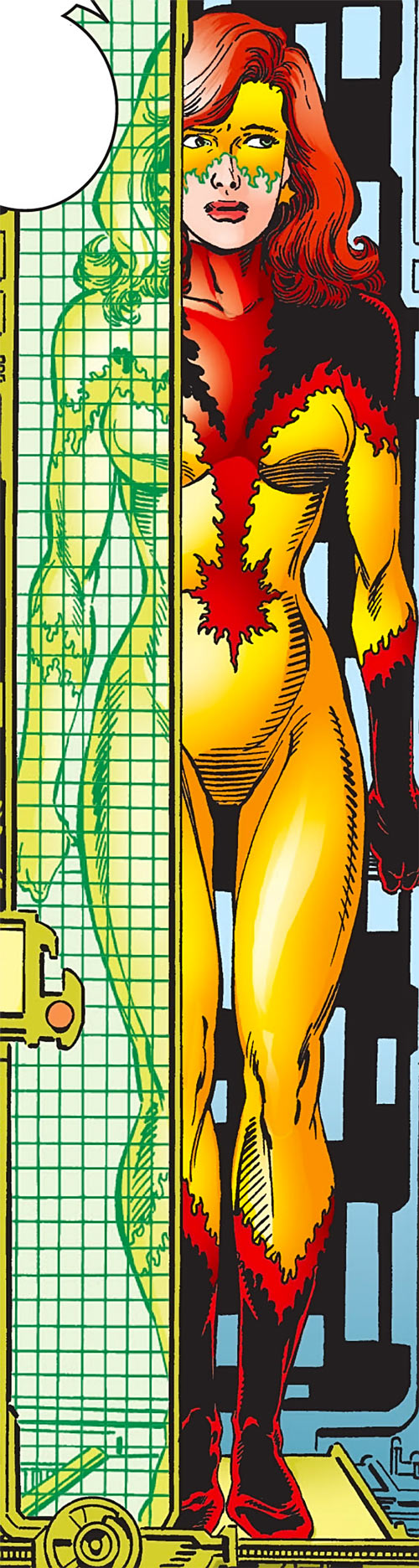 Firestar (Marvel Comics) (Avengers ; New Warriors) body scan