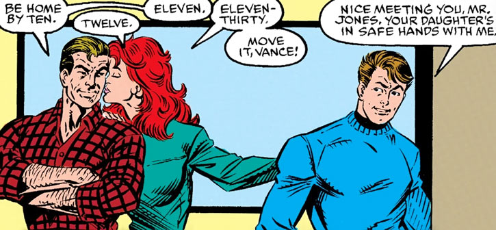 Firestar (Marvel Comics) (Avengers ; New Warriors) dating Vance