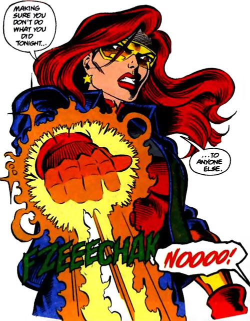 Firestar (Marvel Comics) (Avengers ; New Warriors) angry fire blast