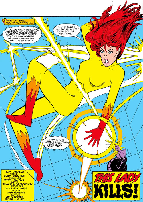 Firestar (Marvel Comics) (Avengers ; New Warriors) early by Mary Wilshire