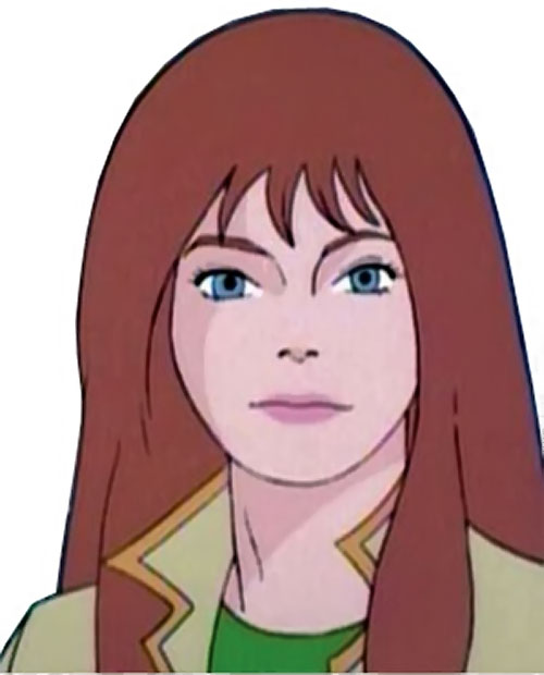 Firestar (Spider-Man Amazing Friends) face closeup no costume