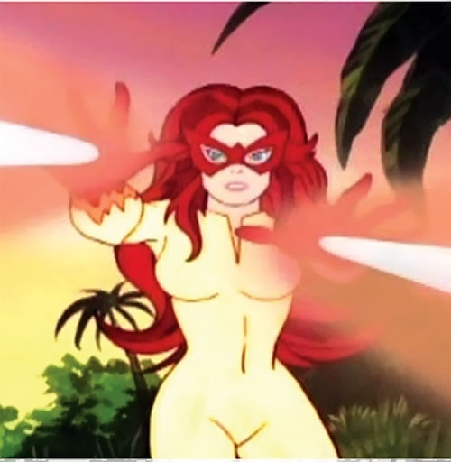 Firestar (Spider-Man Amazing Friends) firing heat beams