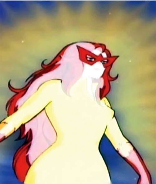 Firestar (Spider-Man Amazing Friends) glowing with heat