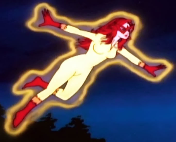 Firestar in flight