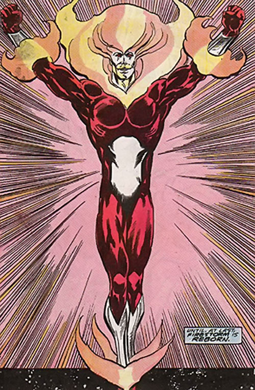 Firestorm as a fire elemental (DC Comics)
