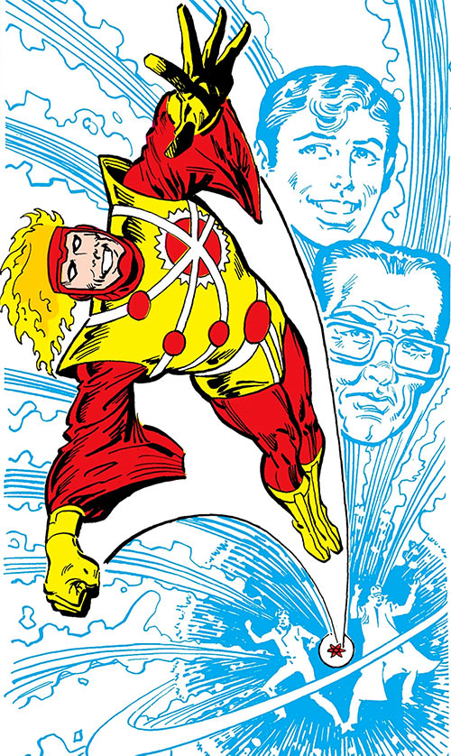 Firestorm (Stein/Raymond version) (DC Comics) from the Who's Who