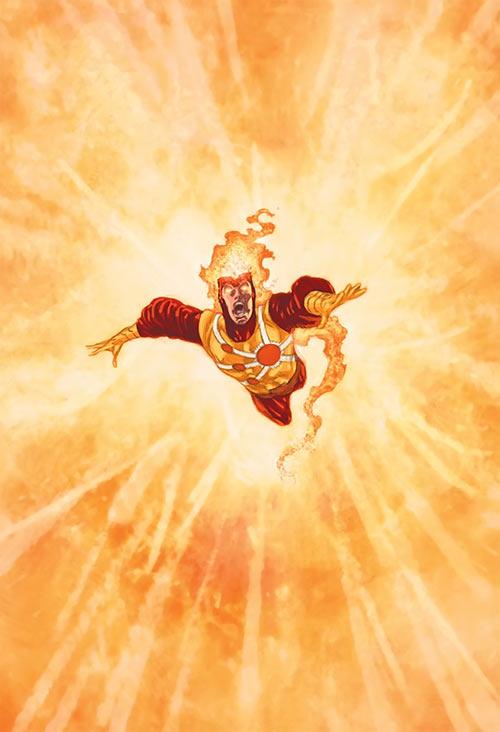 Firestorm (DC Comics) cosmic explosion (Ivan Reis art)