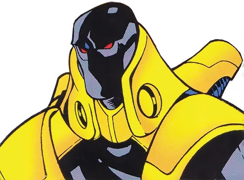 Firestrike (New Warriors enemy) (Marvel Comics) portrait with armor