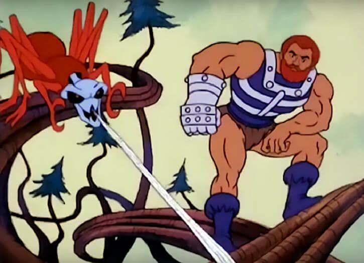 Fisto - Masters of the Universe 1980s cartoon - With arachna spider