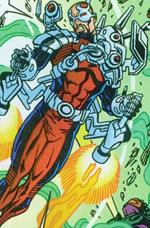 Fixer of the Thunderbolts (Marvel Comics) with a jetpack