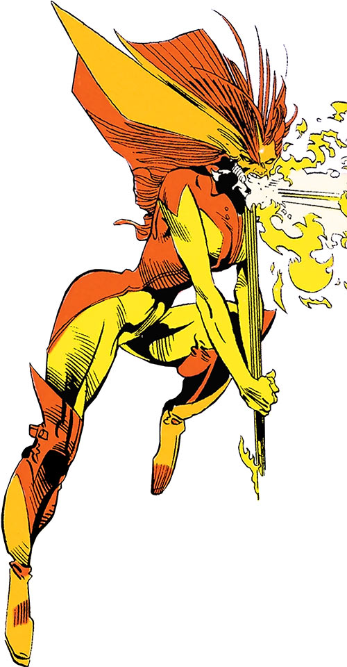 Flambe (X-Factor enemy) (Marvel Comics) breathing fire