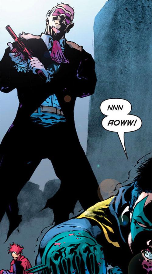 Flamingo (Batman & Robin enemy) (DC Comics) reloading his revolver