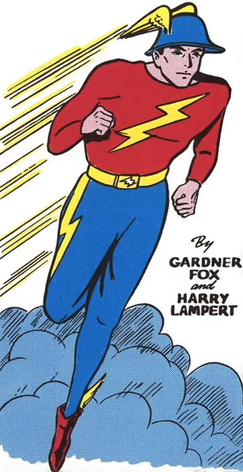 Flash (Jay Garrick) vintage art