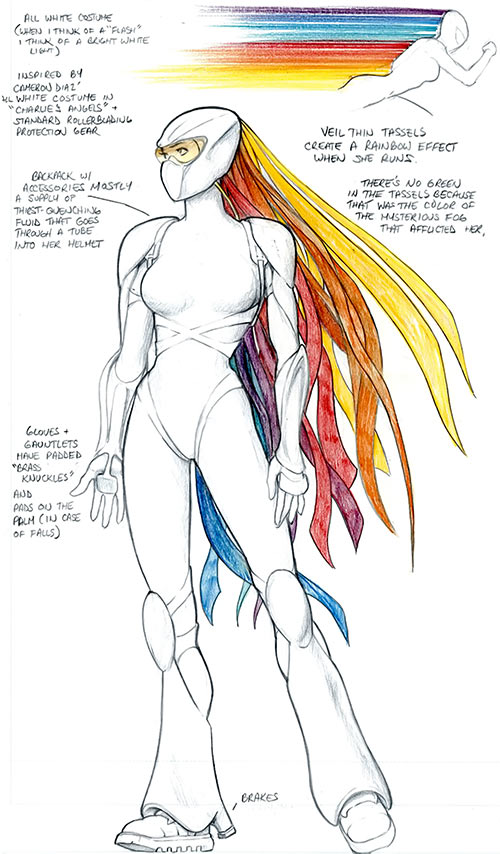 Flash (DC Comics, Stan Lee version) design document by Kevin Maguire