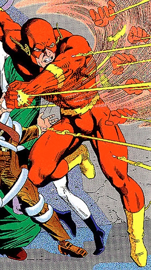 Flash (Wally West) (DC Comics) catches bullets