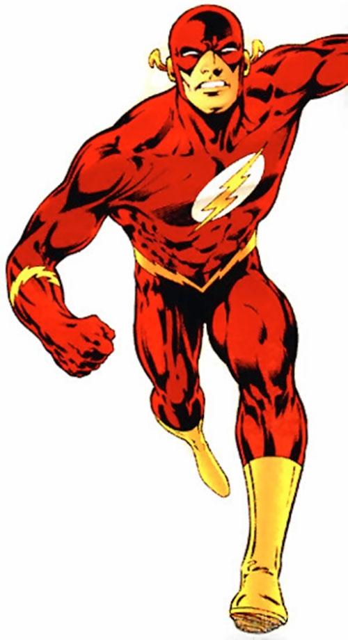 Flash (Wally West) (DC Comics) rushing headlong