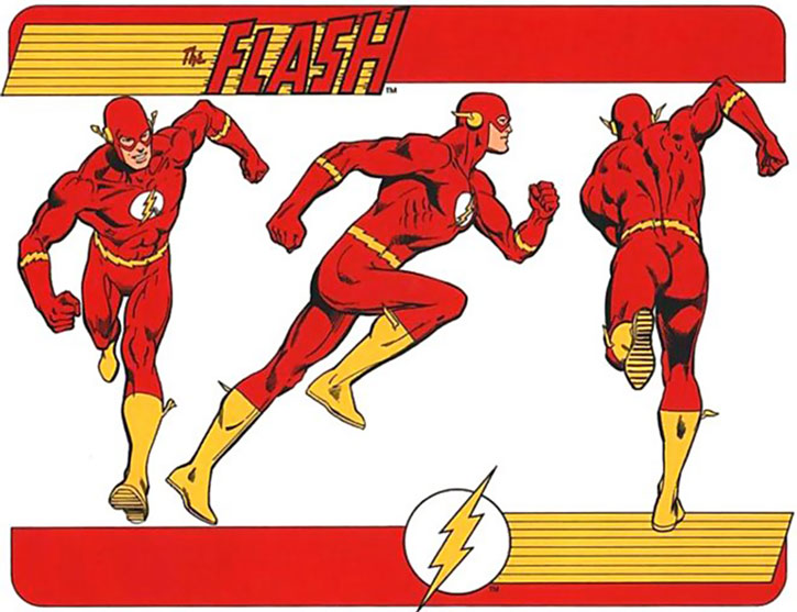 The Flash 1980s character model and coloring sheet