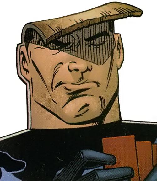Flatman of the Great Lakes Avengers (Marvel Comics) bent head