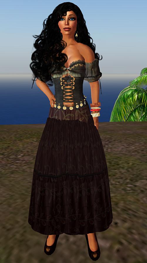 Flicker (DC Heroes RPG) dark skirt ensemble