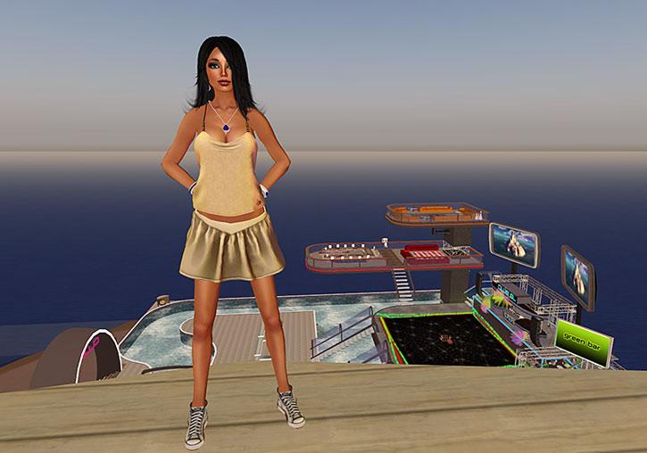 Flicker next to a seaside night club