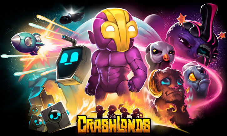 Crashlands video game - Flux Dabes - movie-style poster #2
