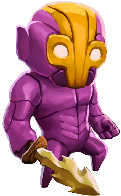 Flux Dabes - Crashlands video games character - White background