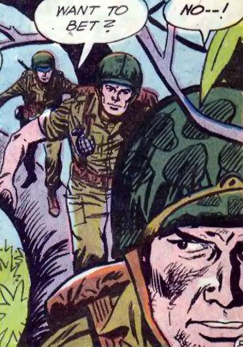 Flying Boots (War that Time Forgot DC Comics) walking along a high branch