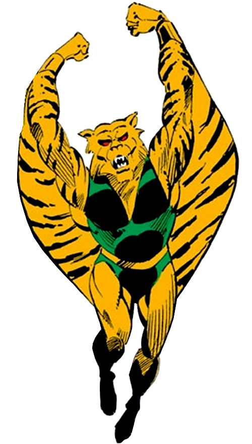 The Flying Tiger (Marvel Comics) over a white background