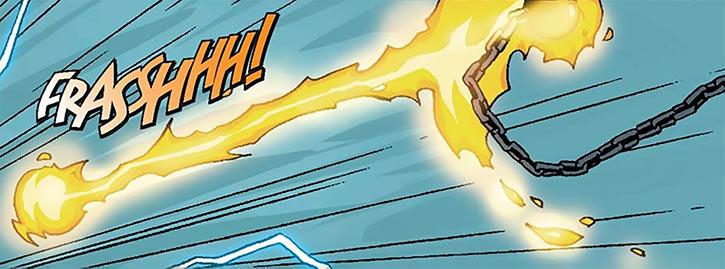 Foe Dog's burning meteor hammer