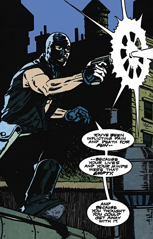 Foolkiller (Kurt Gerhardt) (Marvel Comics) using his gun