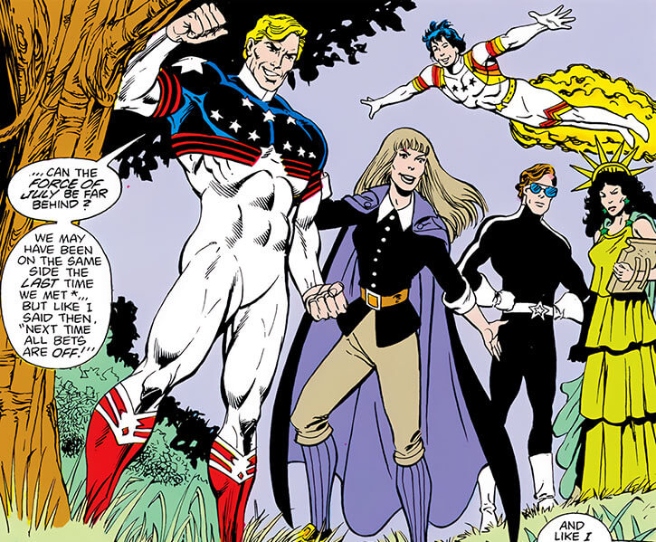 Force of July (DC Comics) (Outsiders enemies) another group shot