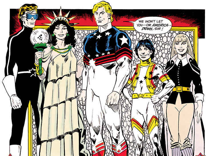 Force of July (DC Comics) (Outsiders enemies) group shot