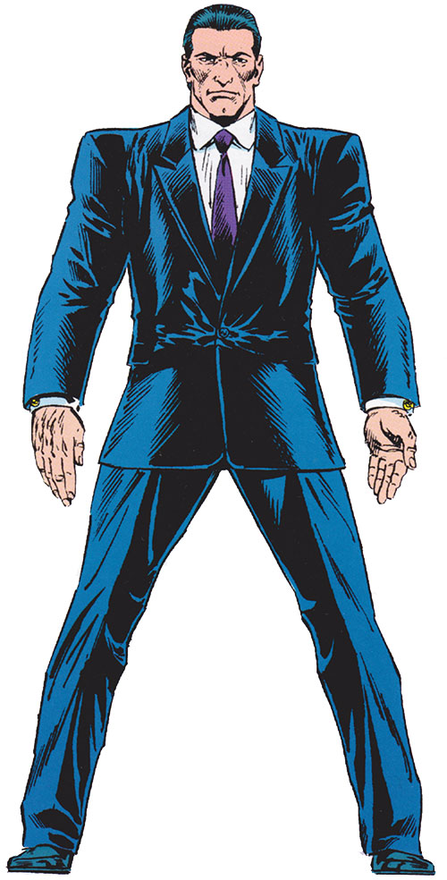 The Foreigner (Spider-Man enemy) (Marvel Comics) in a black business suit
