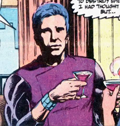 The Foreigner (Spider-Man enemy) (Marvel Comics) with a glass of wine