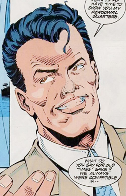 The Foreigner (Spider-Man enemy) (Marvel Comics) grinning