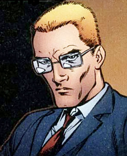Frank Colby of I.O. (Image Comics) (WildCATs character) in a suit