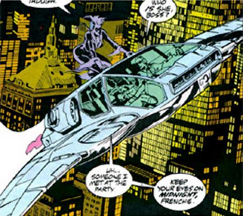 Moon Knight's moonwing aircraft