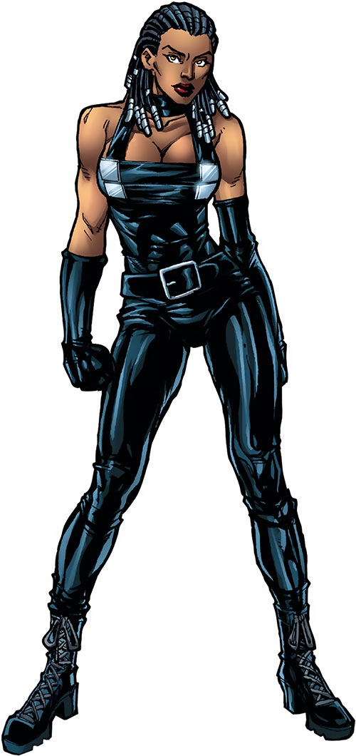 Frenzy of the X-Men (Marvel Comics) black leather coveralls