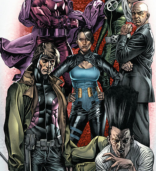 Frenzy (Joanna Cargill) with the X-Men Legacy team