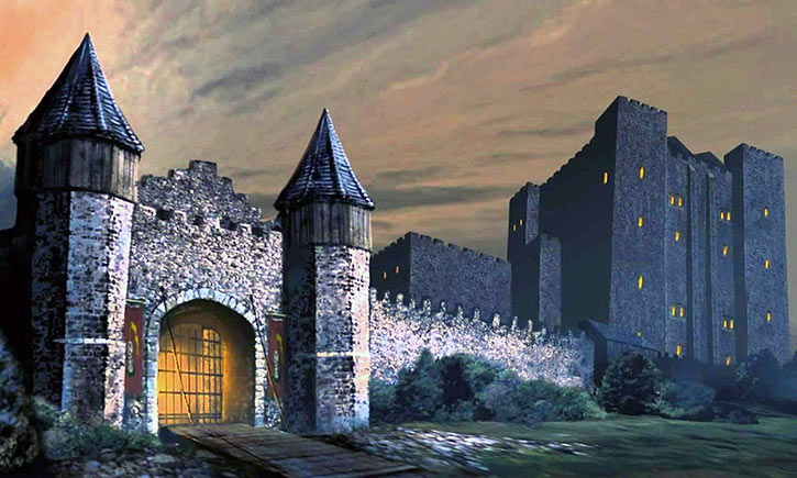 The Friendly Arms fortified Inn in the Baldur's Gate video game - Forgotten Realms