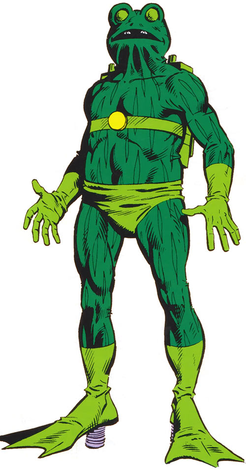 Frog-Man (Spider-Man character) from the 1980s handbook
