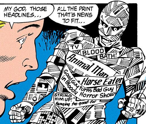 Front Page (Animal Man enemy) (DC Comics) facing Buddy