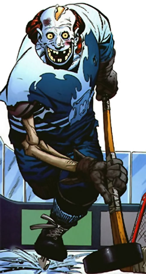 Zombie hockey player (Frost Giant) (Leave it to Chance comics)