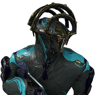 Frost prime warframe helmet closeup