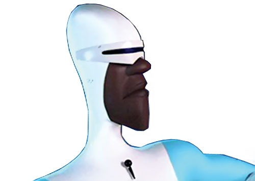 Frozone (The Incredibles) face closeup side view