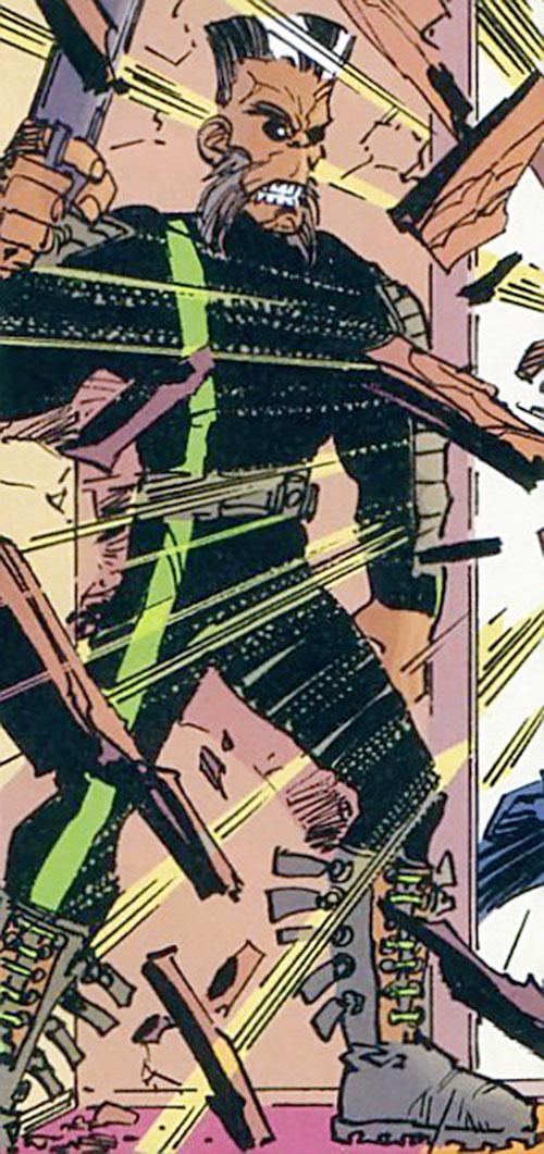 Furious George (Savage Dragon comics) lies in wait with a gun