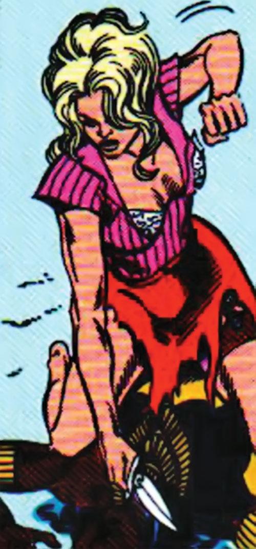 Lyta Hall (Fury) in torn clothing