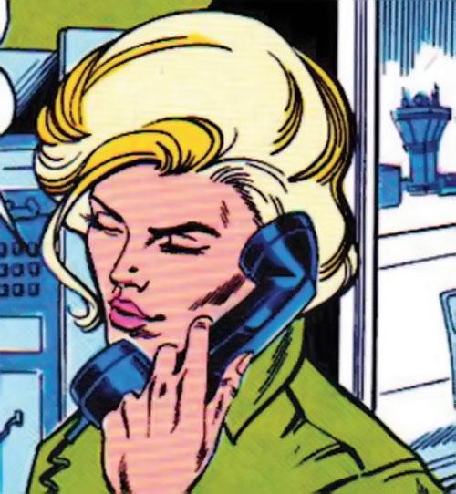 Lyta Hall (Fury) on the phone