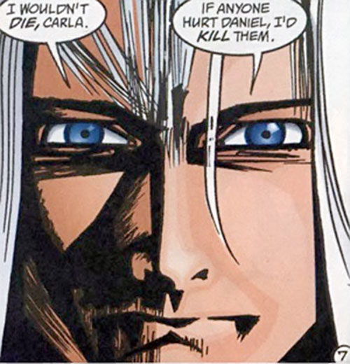 Fury (Lyta Hall in The Sandman) (DC Comics) face closeup